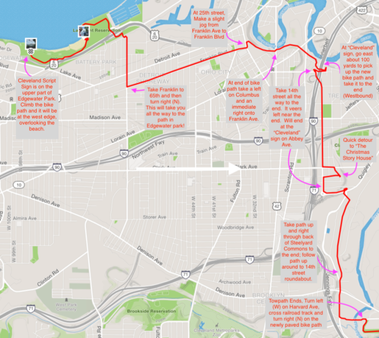 Cleveland Road Route